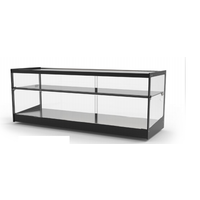 Neutral display case | Available in 6 sizes | LED lighting | Hardened glass