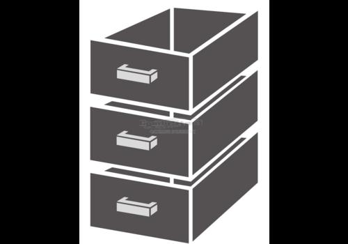 Combisteel Drawer unit 1/3 Monoblock Soft Closing