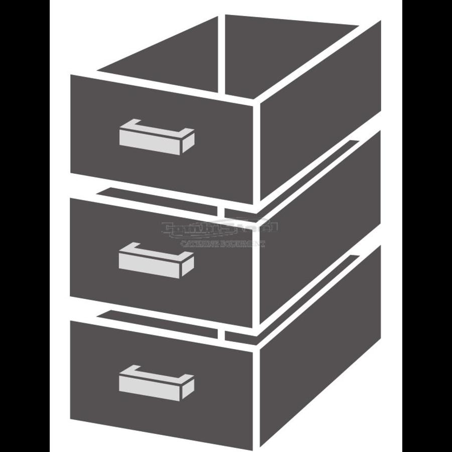 Drawer unit 1/3 Monoblock Soft Closing