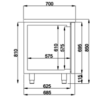 Cool Workbench 3 Doors   178.5x70x85 (WxDxH)
