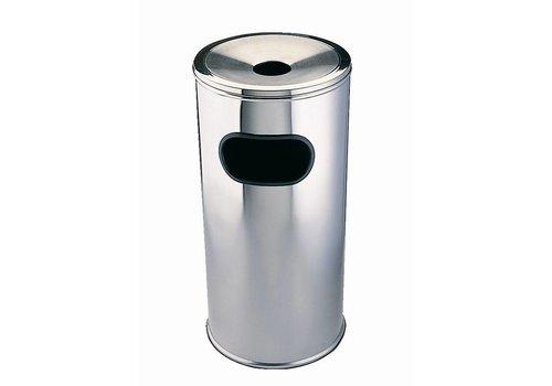 HorecaTraders Round waste bin with ashtray | 2 formats