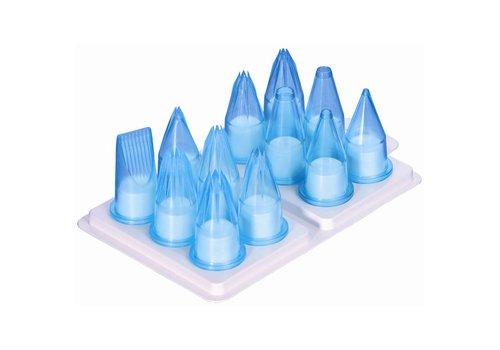 HorecaTraders Polycarbonate nozzle set | 12 pieces