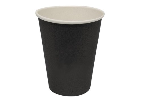 HorecaTraders Coffee Mugs Black (1000 Pieces) 3 formats