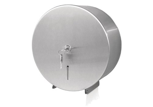 Jantex Stainless Steel Jumbo Toilet paper dispenser with lock