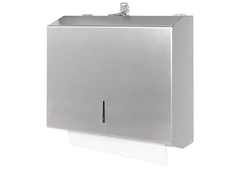 Jantex RVS papieren handdoek dispenser met slot