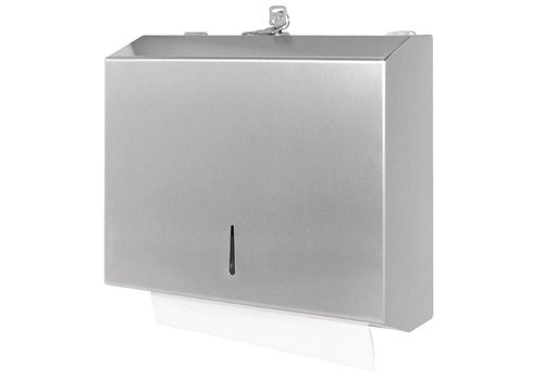 Jantex Stainless steel paper towel dispenser with lock