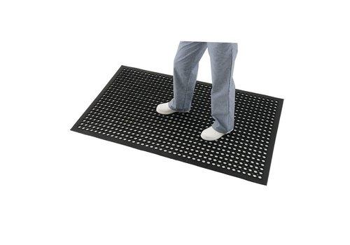 HorecaTraders Anti-fatigue mat Black | 90 x 150 cm