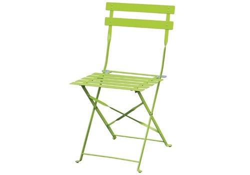 Bolero Stahlstühle Hellgrün | 2 Stück