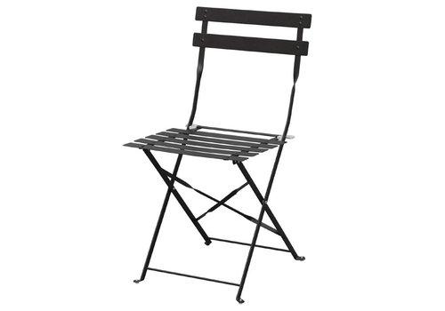 Bolero Stahlstühle Schwarz   2 Stück