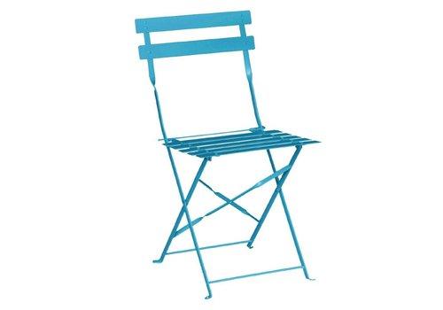 Bolero Steel Chairs Turquoise | 2 pieces