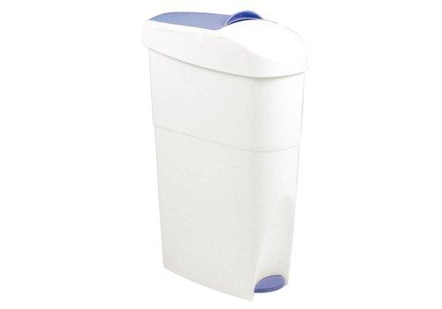 HorecaTraders Treteimer aus Kunststoff Mülleimer | 18 liter | Weiß
