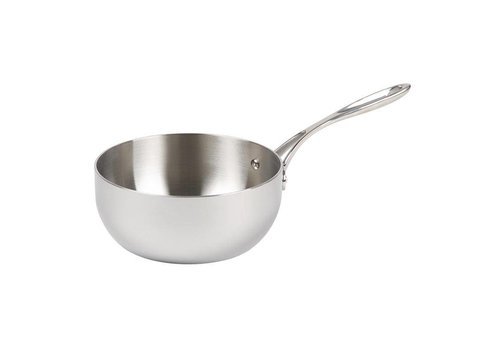 Vogue Stainless steel conical sauteuse | Ø20 cm