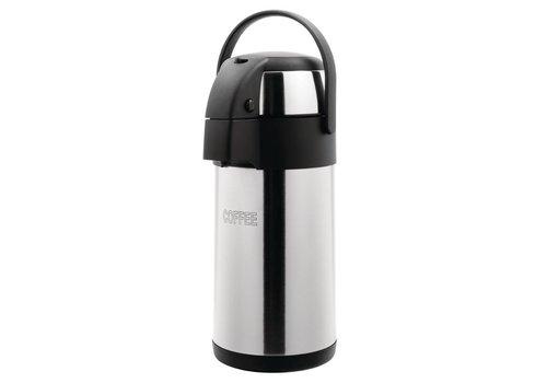 HorecaTraders Edelstahl-Kaffee mit Pumpe | 3L