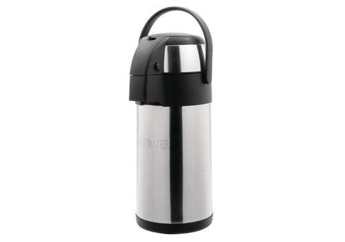 HorecaTraders Pump jug   Stainless steel   3 liters