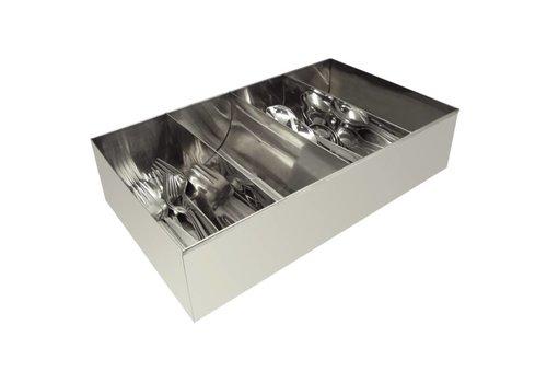 HorecaTraders Stainless steel cutlery holder