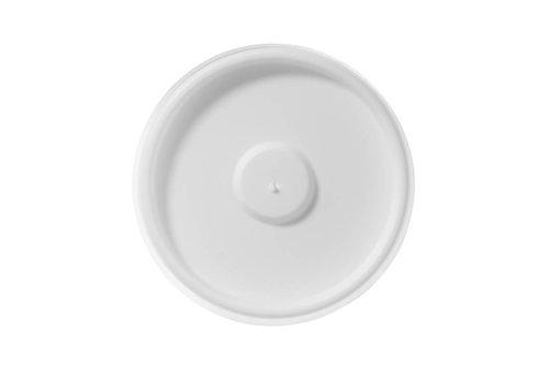 HorecaTraders 11 cl. platte deksel wit (1000 stuks)