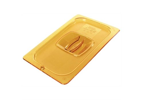 HorecaTraders Plastic GN cover 1/1 yellow