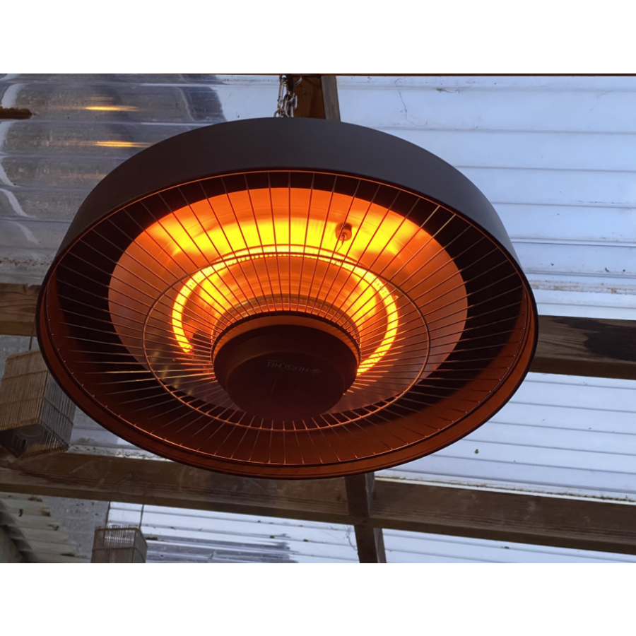 2000W hanging patio heater with remote control black