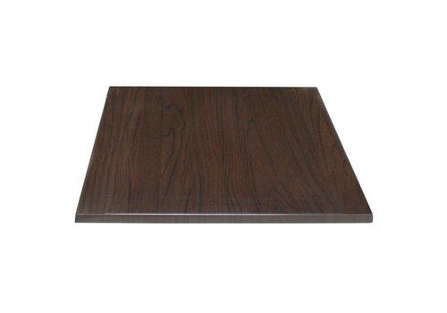 Bolero Quadratische Tischplatte dunkelbraun | 2 Abmessungen