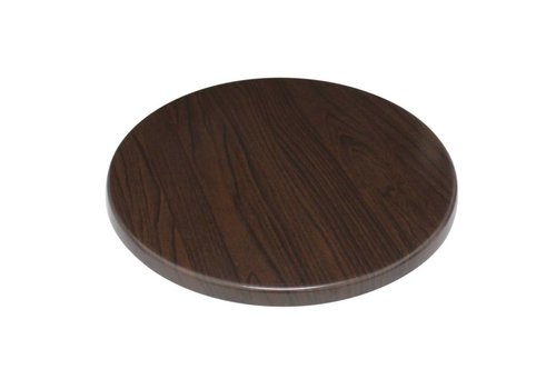 Bolero Tabletop dunkel Rund | 2 Abmessungen