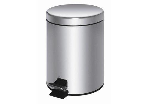 HorecaTraders Stainless steel pedal bin | 20 liters