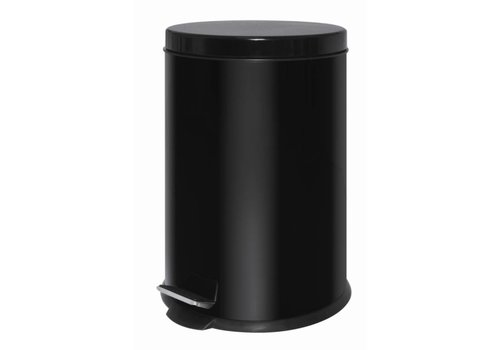 HorecaTraders Kunststoff Treteimer Schwarz | 20 Liter