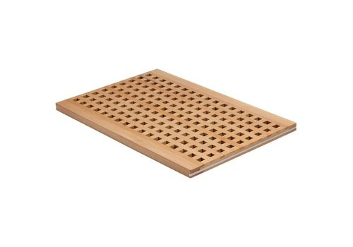 HorecaTraders Bread station Wooden chopping board | 52 x 34 x 2 cm