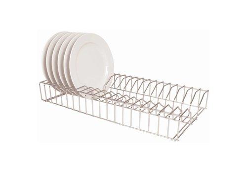HorecaTraders Plate rack stainless steel | 60cm