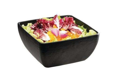 APS Melamine Square Bowl   Black