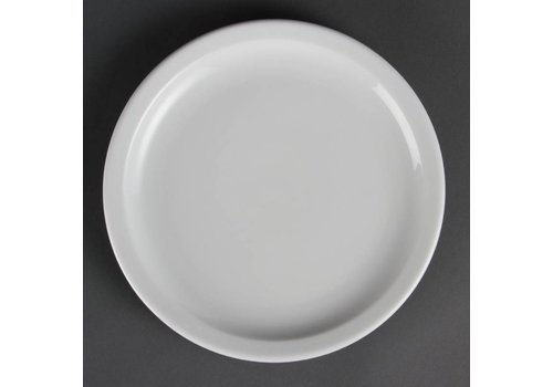Olympia Porcelain lunch plate with narrow edge 23 cm (12 pieces)