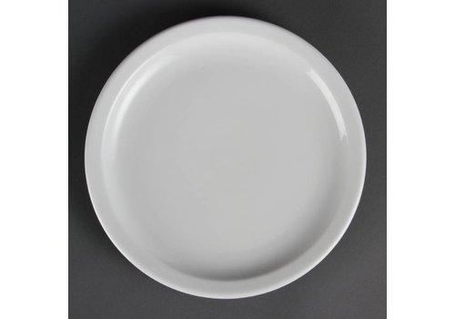 Olympia Porzellan-Teller Mittagessen mit schmalem Rand 23 cm (12 Stück)