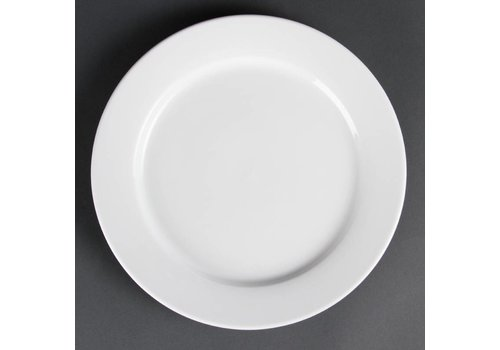 Olympia White Plates with wide border 28 cm (6 pcs)