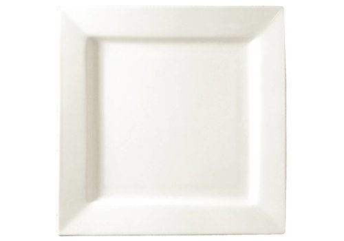 HorecaTraders square white plate 17 cm (6 pcs)