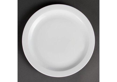 Olympia White porcelain plate narrow edge 28 cm (6 pcs)