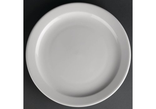 Athena Porcelain plate with narrow edge | 25 cm (piece 12)