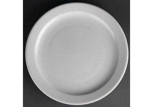 Athena Porselein bord met smalle rand | 25 cm (stuks 12)