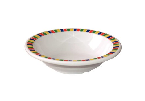 HorecaTraders Colorful Melamine Bowl 12 pcs | 3 Sizes