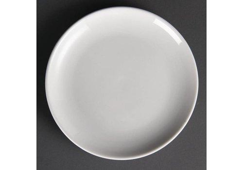 Olympia White porcelain plate around 20 cm (12 pieces)