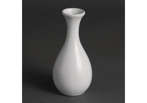 Olympia Weißes Porzellan Tabelle Vase 13cm   12 Stück