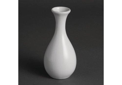 Olympia White Porcelain Table Vase 13cm | 12 pieces