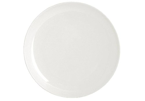 HorecaTraders White porcelain plate around 26 cm (4 pieces)