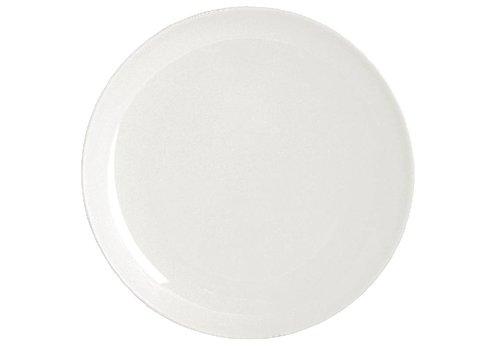 HorecaTraders Wit rond porselein bord 26 cm (stuks 4)