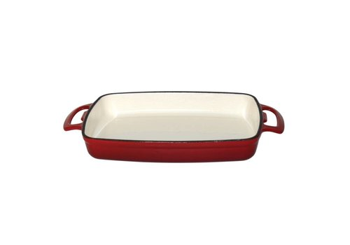 Vogue rectangular dish red