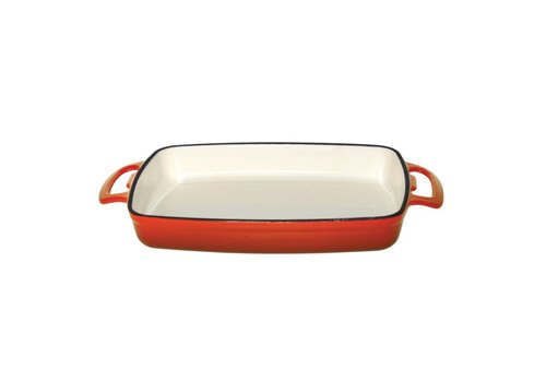 Vogue rectangular dish orange