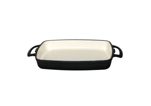 Vogue Rectangular oven dish black 1.8 liters induction proof