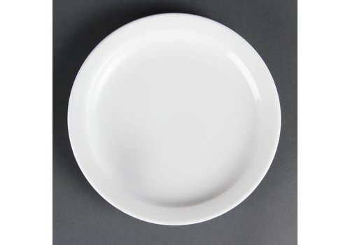 Olympia Small porcelain plates with narrow edge 20 cm (12 pieces)
