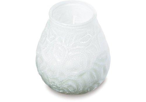 HorecaTraders Sfeerlicht Wit met Wax | 12 stuks