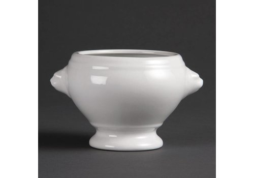 Olympia Wit Porselein Soepkom 10,5 cm   6 stuks