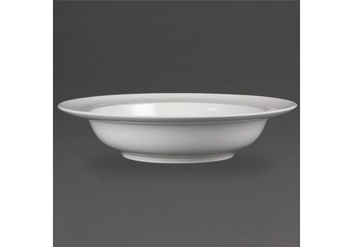 Olympia Luxury porcelain eat dishes with a wide brim (4 pieces)