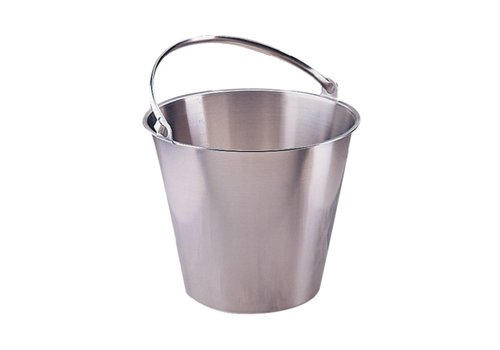 HorecaTraders Bucket stainless steel | 12 liters Wouter